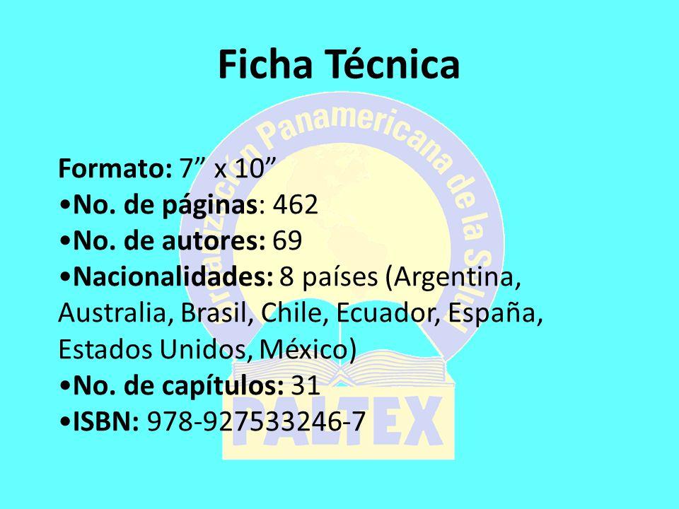 Ficha Técnica Formato: 7 x 10 No. de páginas: 462 No.