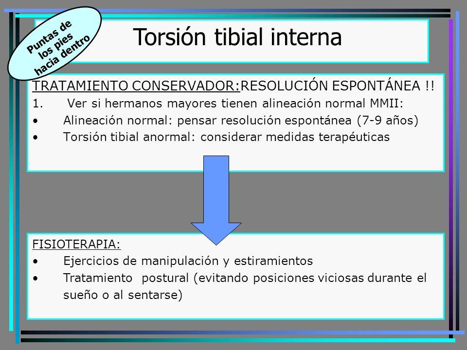 1.Férula de Twister2.Férula de Dennis-Brown Torsión tibial interna Puntas de los pies hacia dentro 3.Férula de Sabel