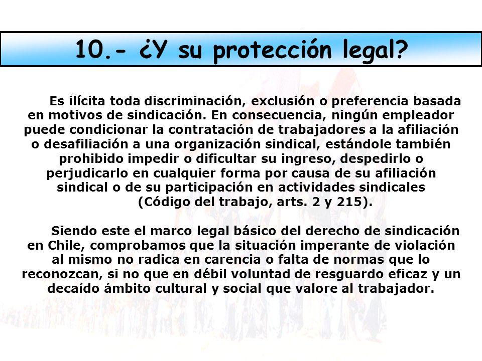 Es ilícita toda discriminación, exclusión o preferencia basada en motivos de sindicación.