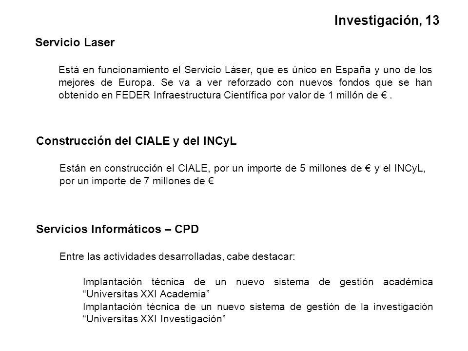 Servicio Laser Está en funcionamiento el Servicio Láser, que es único en España y uno de los mejores de Europa.