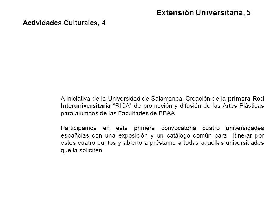 A iniciativa de la Universidad de Salamanca, Creación de la primera Red Interuniversitaria RICA de promoción y difusión de las Artes Plásticas para alumnos de las Facultades de BBAA.