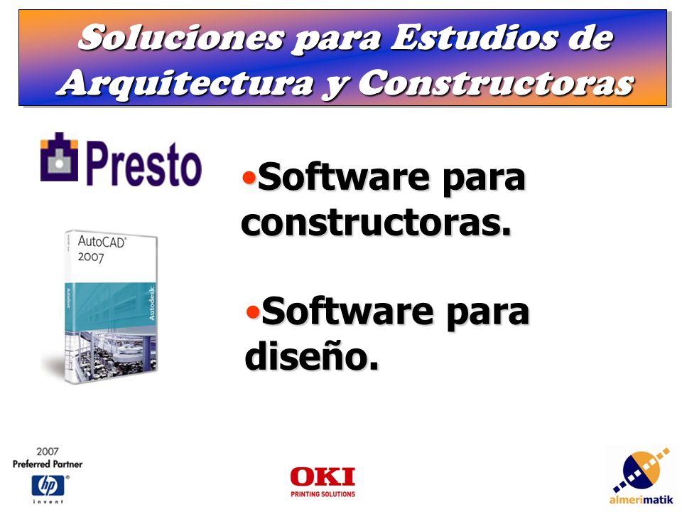 Soluciones para Estudios de Arquitectura y Constructoras Software para constructoras.Software para constructoras.