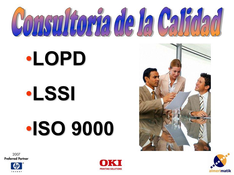 LOPDLOPD LSSILSSI ISO 9000ISO 9000