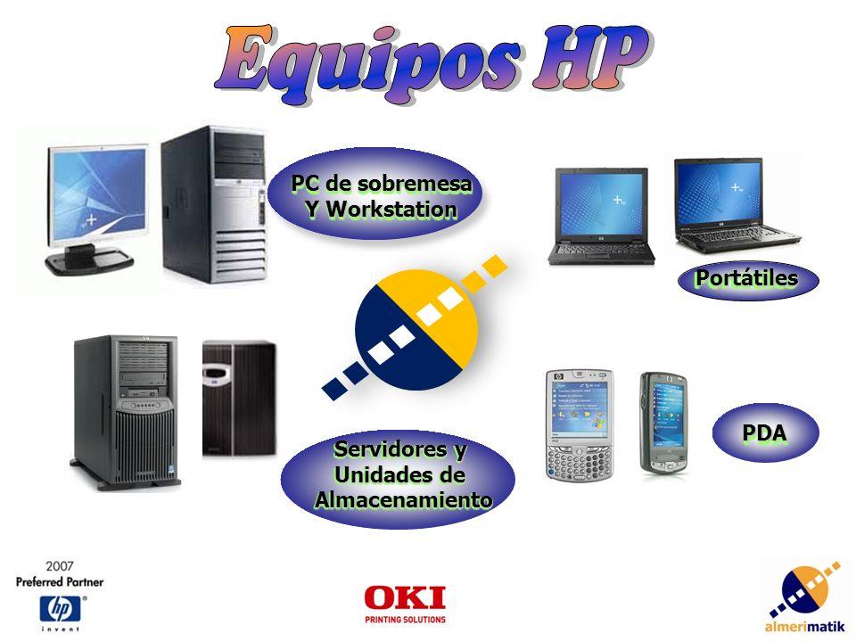 PC de sobremesa Y Workstation PC de sobremesa Y Workstation PDAPDA Servidores y Unidades de Almacenamiento Servidores y Unidades de Almacenamiento PortátilesPortátiles