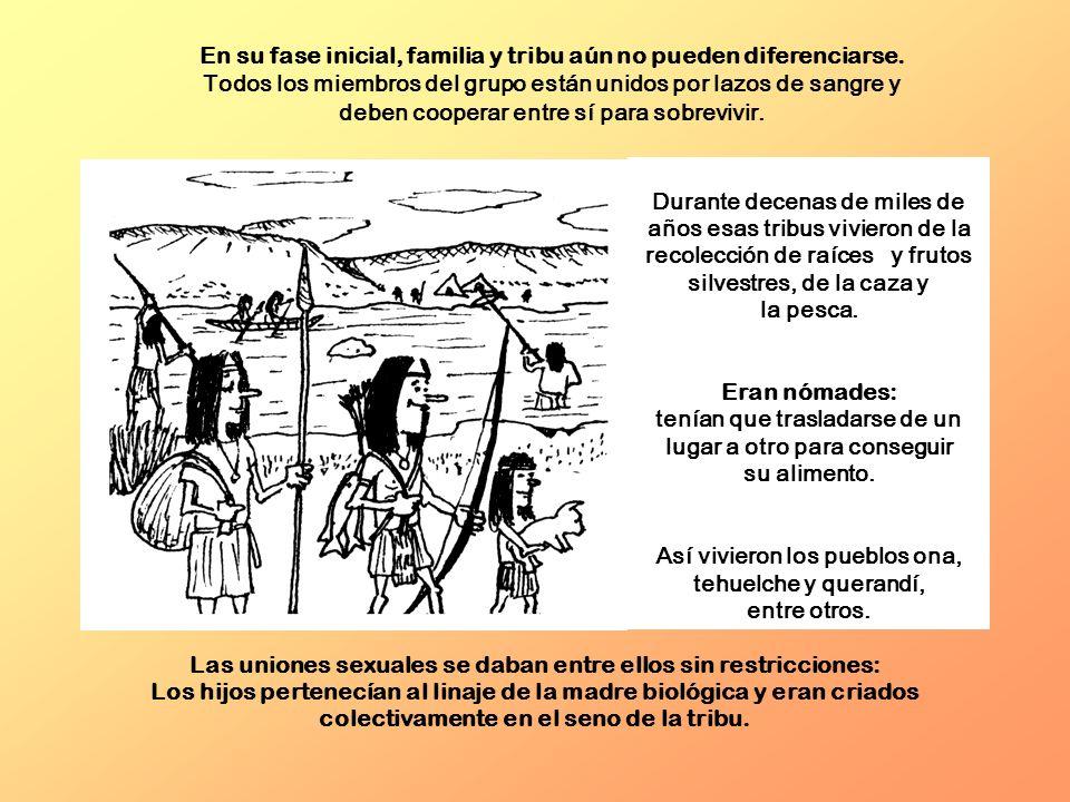 Durante decenas de miles de años esas tribus vivieron de la recolección de raíces y frutos silvestres, de la caza y la pesca. Eran nómades: tenían que