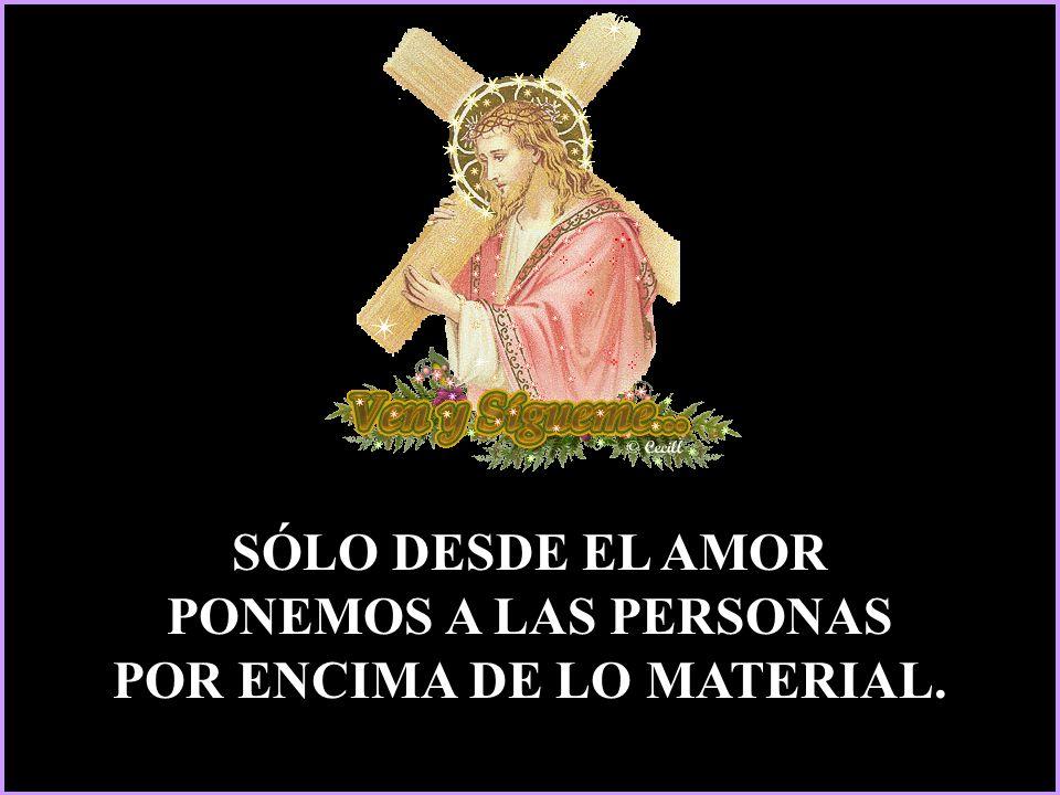 Ojalá, aunque sea caro el perfume de nuestro tiempo, seamos capaces de ofrecerlo en abundancia a los pies clavados de Jesús: Y quedándonos asombrados