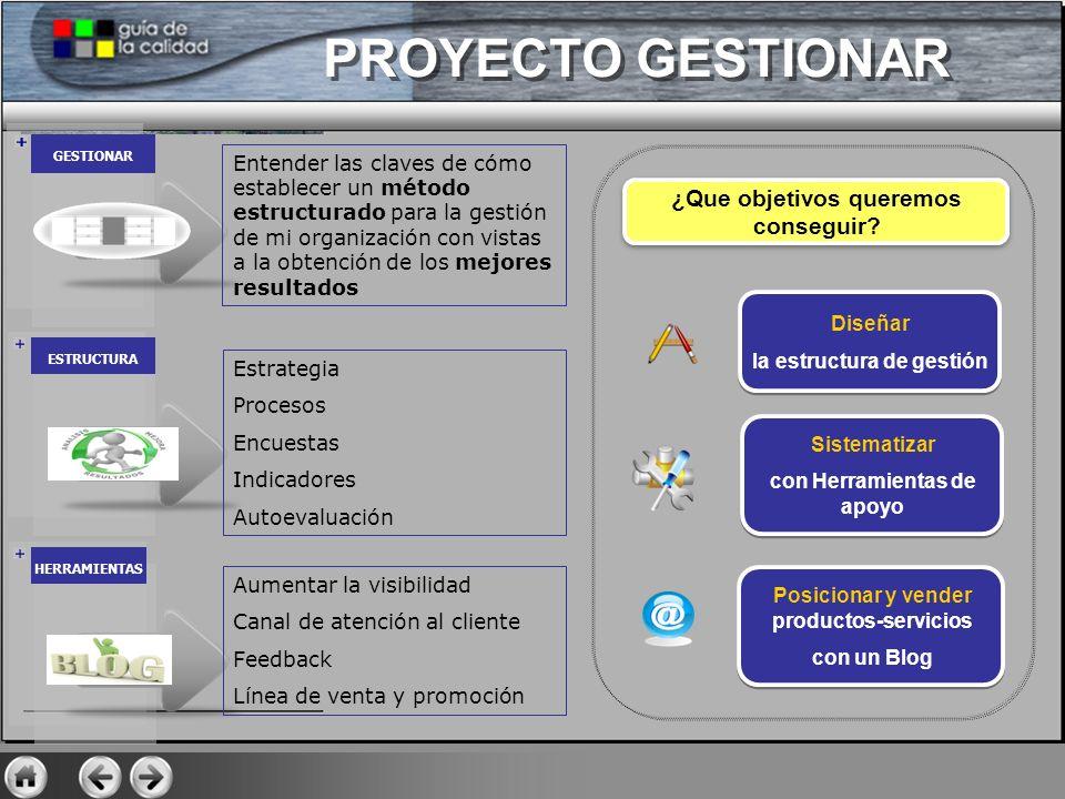 GESTIONAR ESTRUCTURA HERRAMIENTAS Sistematizar con Herramientas de apoyo Sistematizar con Herramientas de apoyo Posicionar y vender productos-servicio