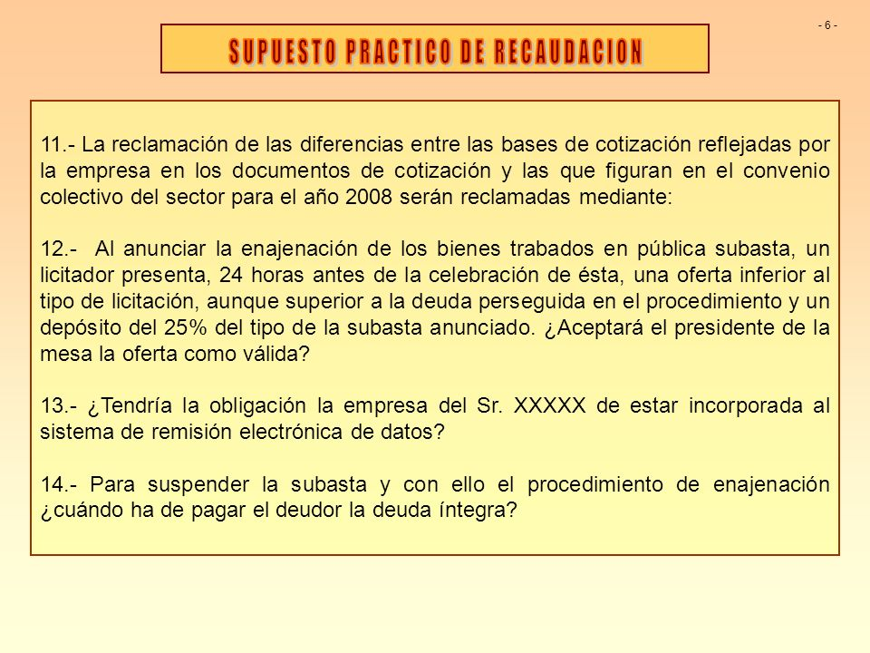 11.- La reclamación de las diferencias entre las bases de cotización reflejadas por la empresa en los documentos de cotización y las que figuran en el