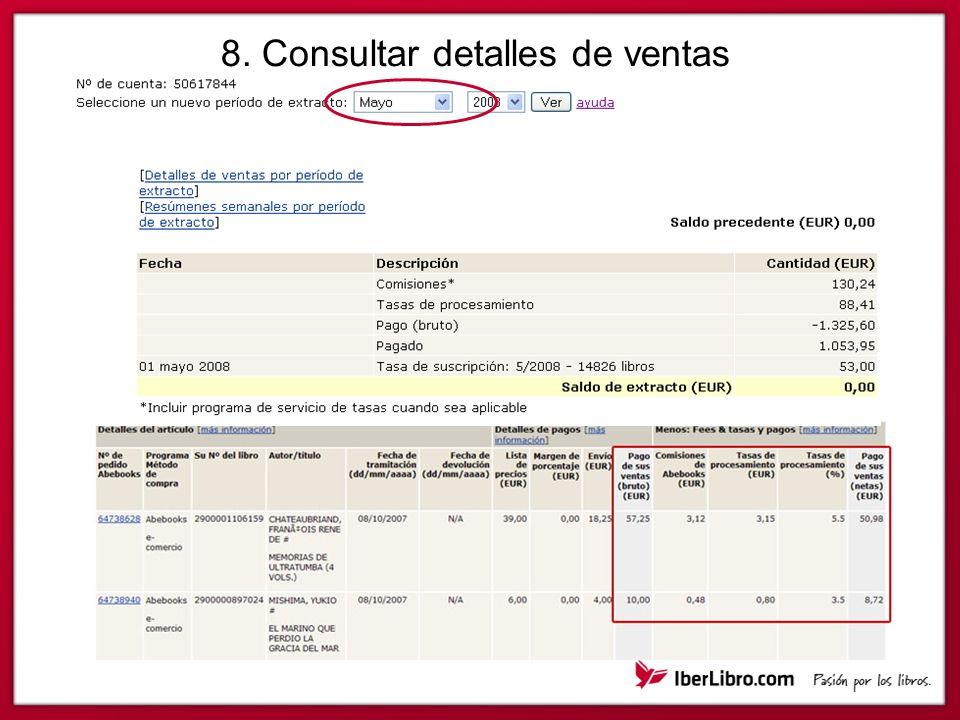 8. Consultar detalles de ventas