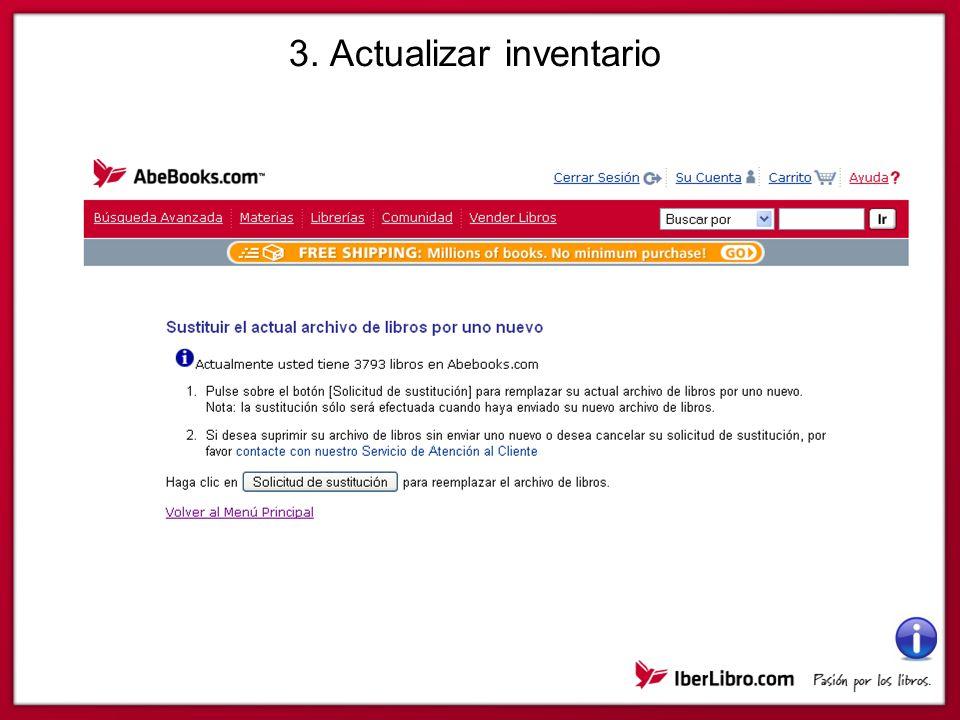 3. Actualizar inventario