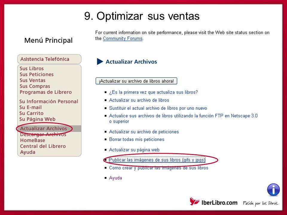 9. Optimizar sus ventas