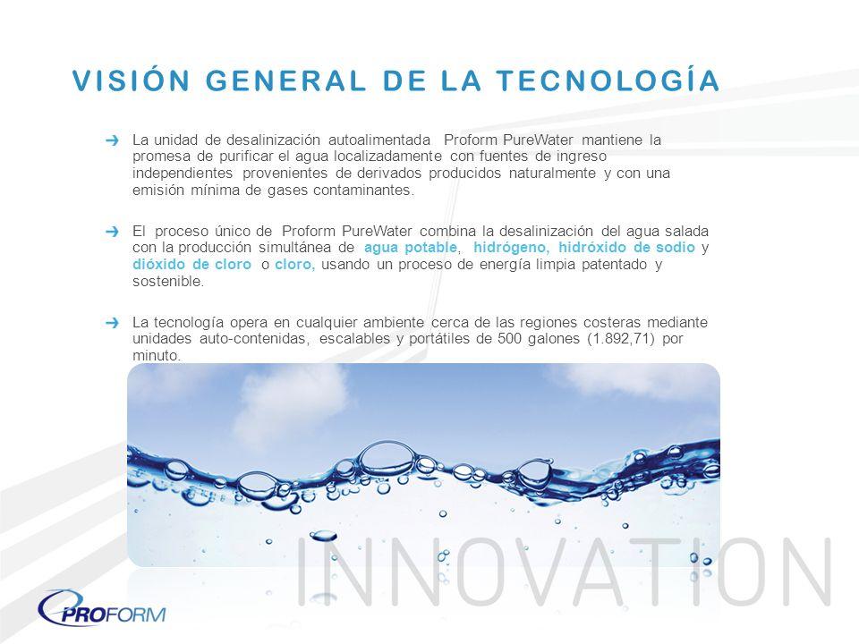 La unidad de desalinización autoalimentada Proform PureWater mantiene la promesa de purificar el agua localizadamente con fuentes de ingreso independi