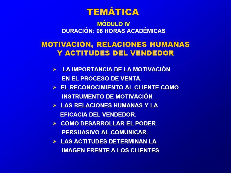 TEMÁTICA LA IMPORTANCIA DE LA MOTIVACIÓN EN EL PROCESO DE VENTA.