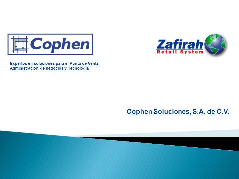 Cophen Soluciones, S.A. de C.V. Expertos en soluciones para el Punto de Venta, Administración de negocios y Tecnología