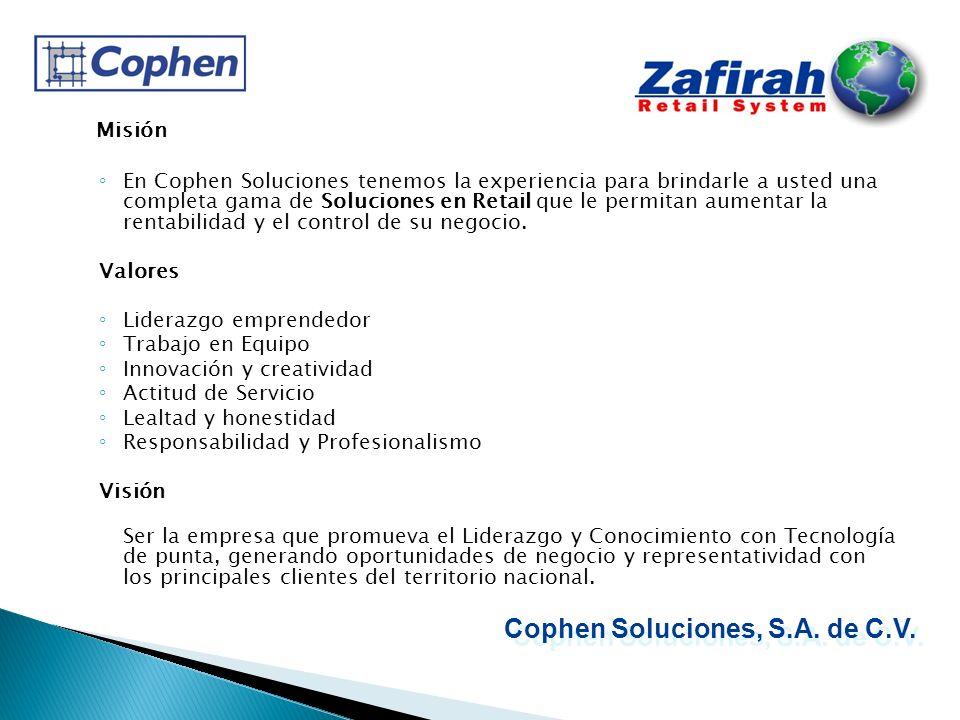 Zafirah Punto de Venta es un sistema que le permite registrar, controlar y administrar sus operaciones de venta y su negocio en general.
