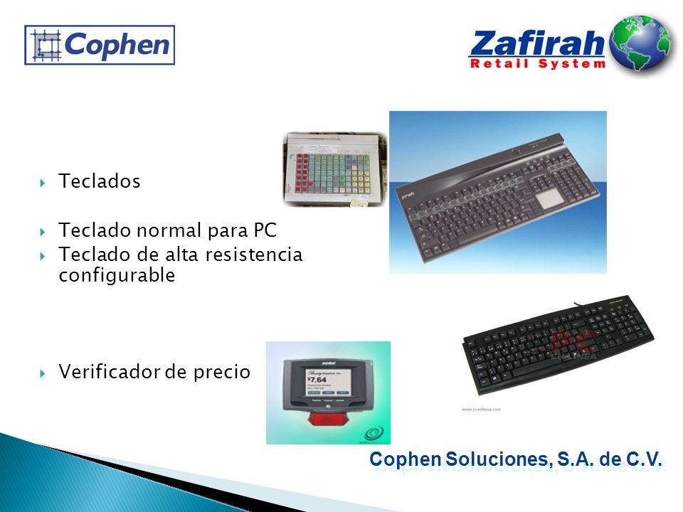 Teclados Teclado normal para PC Teclado de alta resistencia configurable Verificador de precio Cophen Soluciones, S.A. de C.V.