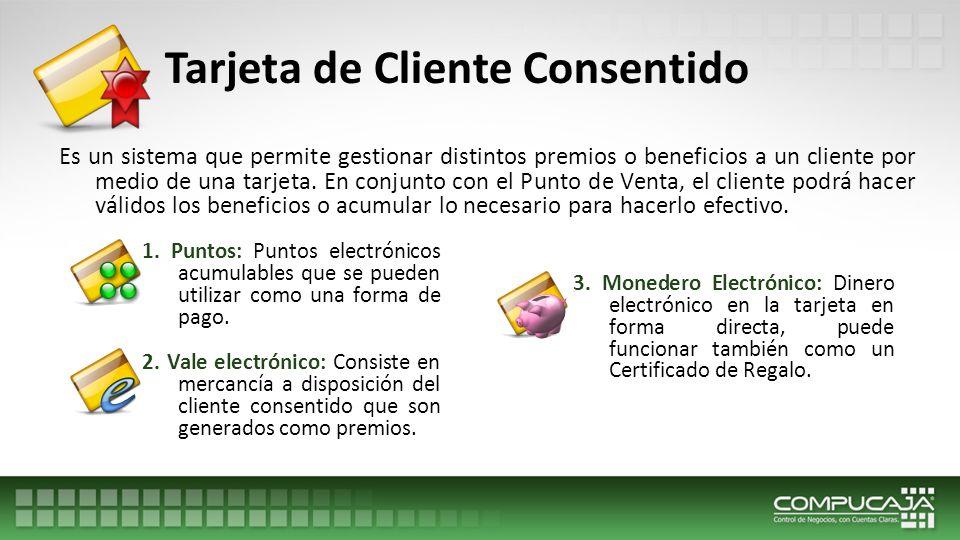 Tarjeta de Cliente Consentido 4.