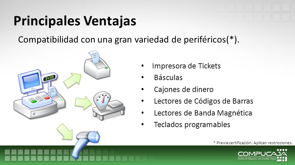 Principales Ventajas Catálogos con ficha y vista tabular, que detallan los elementos de cada registro.