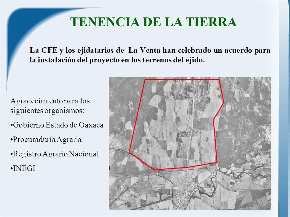 La CFE y los ejidatarios de La Venta han celebrado un acuerdo para la instalación del proyecto en los terrenos del ejido.