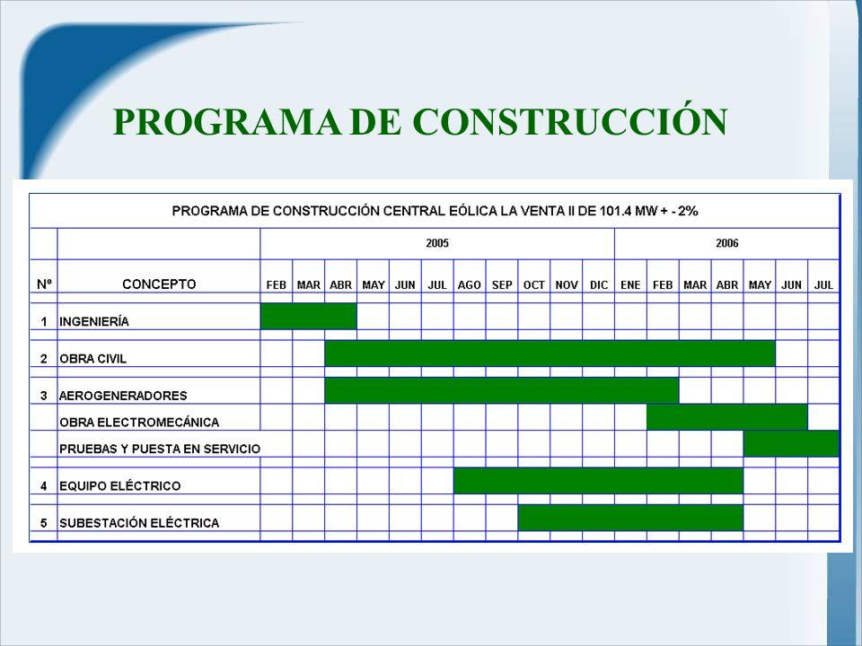 PROGRAMA DE CONSTRUCCIÓN