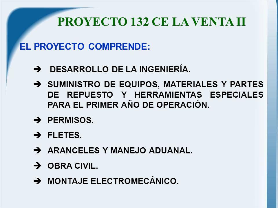 PROYECTO 132 CE LA VENTA II DESARROLLO DE LA INGENIERÍA.