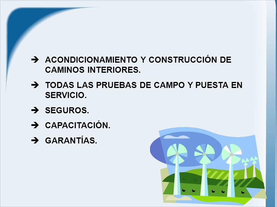 ACONDICIONAMIENTO Y CONSTRUCCIÓN DE CAMINOS INTERIORES.