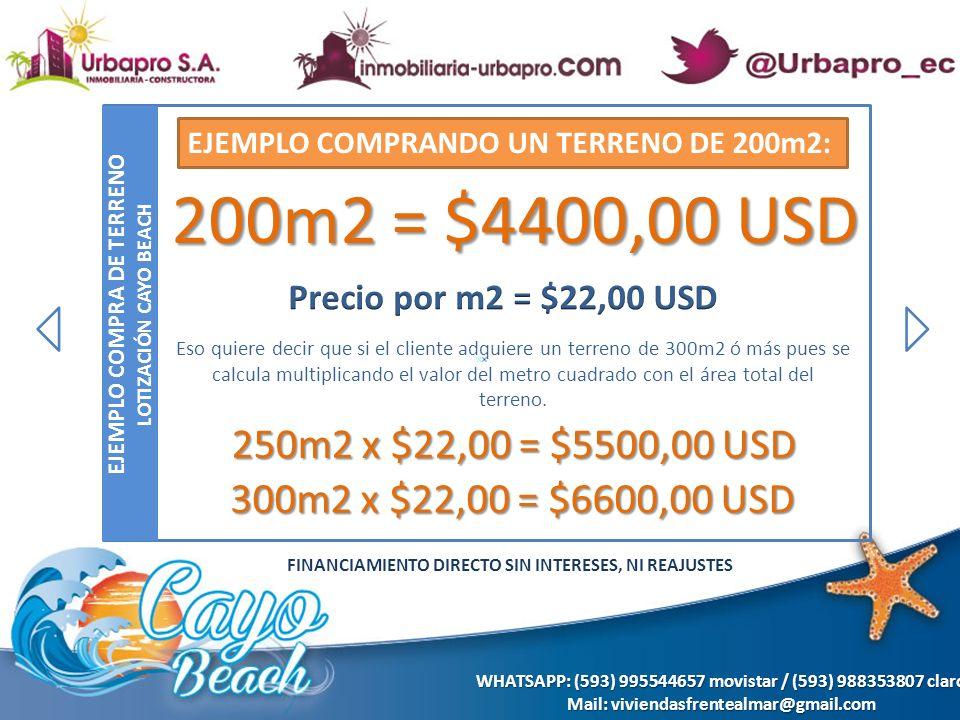 REQUISITOS PARA COMPRAR EN LOTIZACIÓN CAYO BEACH REQUISITOS DE COMPRA PERSONAS de Ecuador COPIA DE LA CEDULA DE IDENTIDAD PAPELETA DE VOTACIÓN ACTUALIZADA FIRMAR LA PROPUESTA DE COMPRA VENTA (CON UN ASESOR DE NUESTRA EMPRESA) CANCELAR LA ENTRADA DEPENDIENDO DEL PROYECTO Y USTED ELIGE EL DIA EN QUE DESEA PAGAR LAS MENSUALIDADES AL MOMENTO DE CUMPLIR LOS REQUISITOS SE LE ENTREGARA AL CLIENTE UN CONTRATO DE PROMESA DE COMPRA VENTA Y RECIBO TANTO DEL PAGO DE LA ENTRADA COMO LAS MENSUALIDADES.