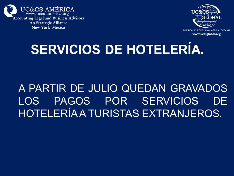 SERVICIOS DE HOTELERÍA.