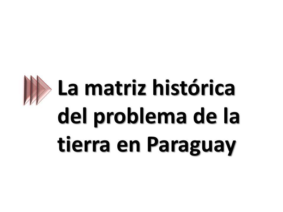 La matriz histórica del problema de la tierra en Paraguay