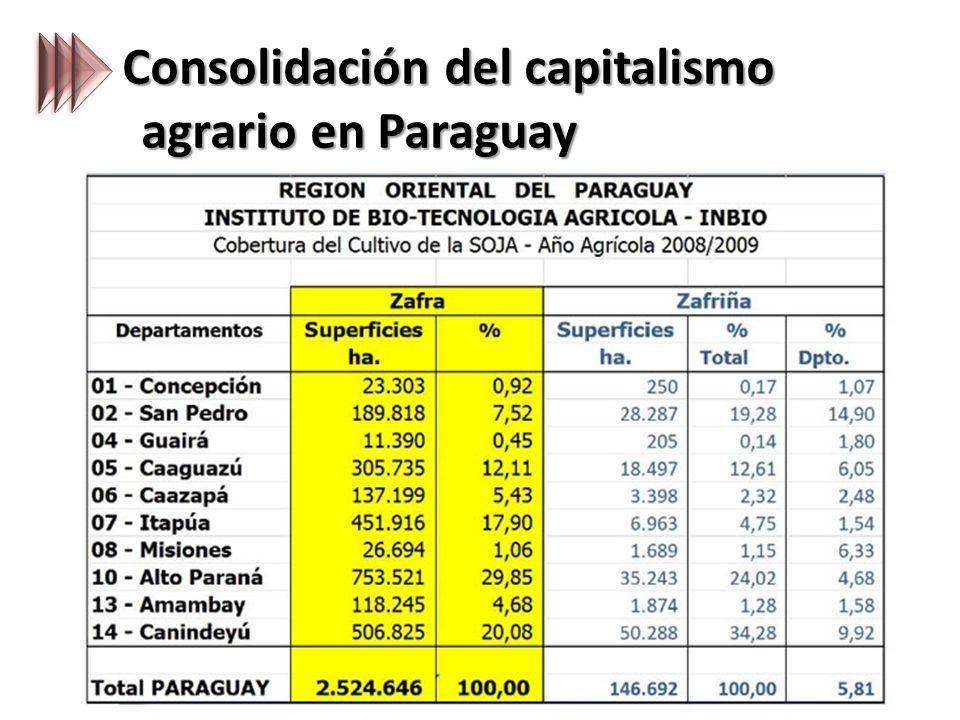 Consolidación del capitalismo agrario en Paraguay