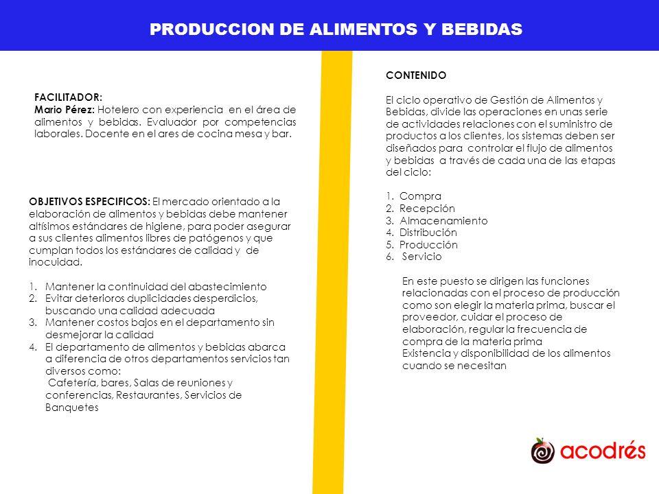 GESTION DE TALENTO HUMANO OBJETIVOS ESPECIFICOS Identificar los principios básicos de la planificación y diseño de los restaurantes, sus cocinas y áreas de servicio según factores determinantes como el mercado, aspectos normativos, etc.