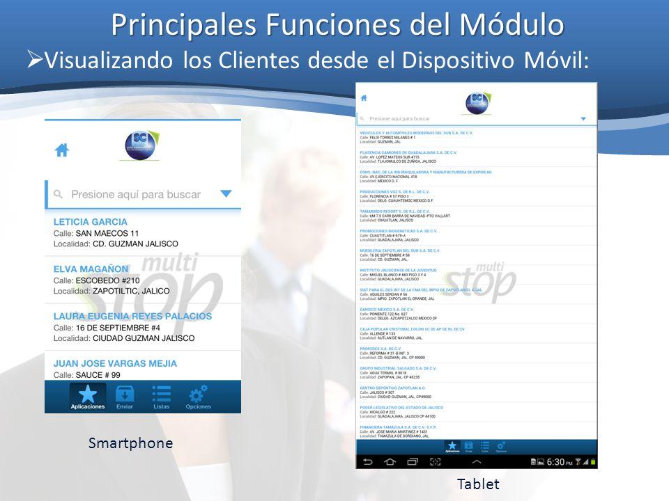 Principales Funciones del Módulo Cobranza Móvil (caso práctico): Listo.
