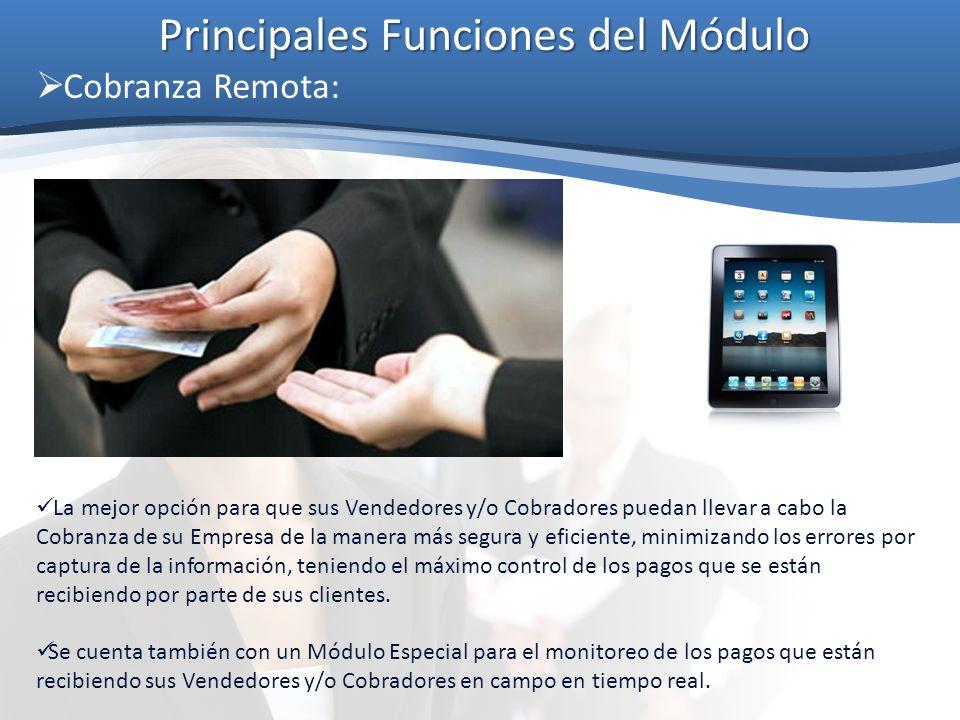 Principales Funciones del Módulo Generación de Pedidos desde el Dispositivo Móvil: Listo.