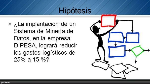 Hipótesis ¿La implantación de un Sistema de Minería de Datos, en la empresa DIPESA, logrará reducir los gastos logísticos de 25% a 15 %?