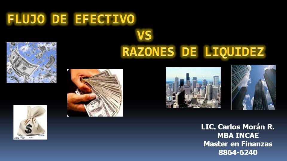 LIC. Carlos Morán R. MBA INCAE Master en Finanzas 8864-6240