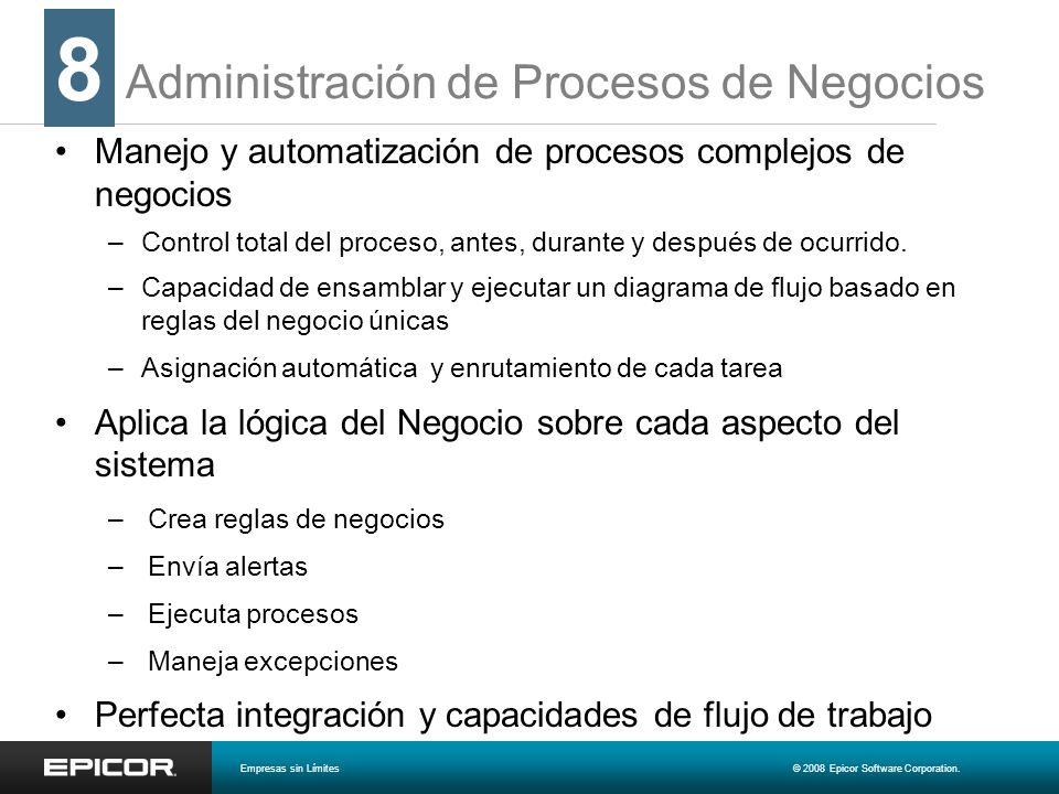 Administración de Procesos de Negocios Manejo y automatización de procesos complejos de negocios –Control total del proceso, antes, durante y después