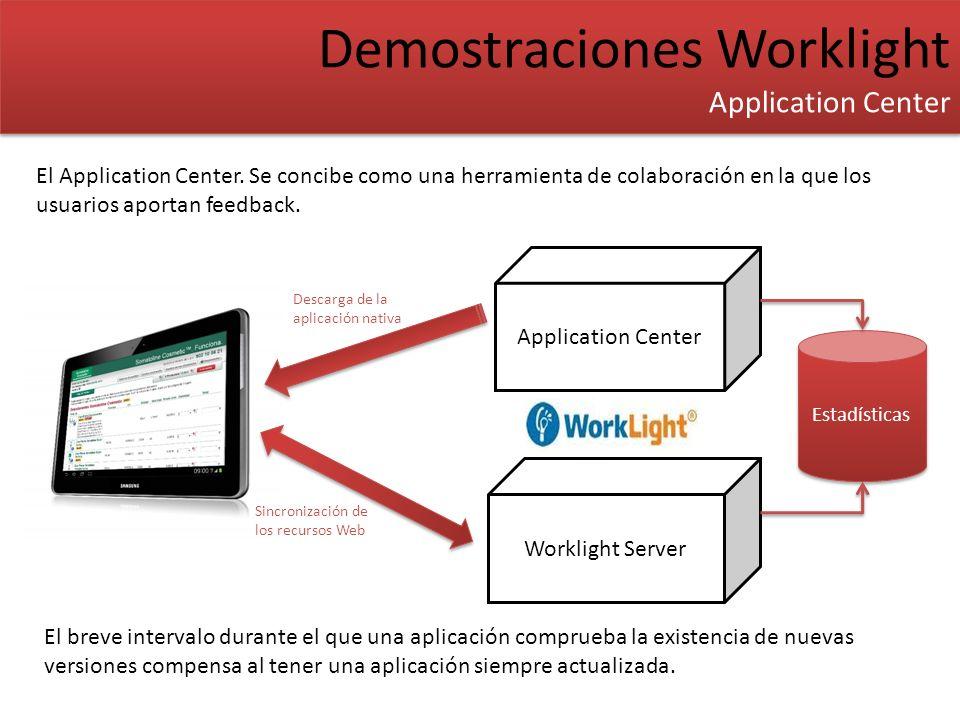 Demostraciones Worklight Application Center Demostraciones Worklight Application Center El Application Center. Se concibe como una herramienta de cola