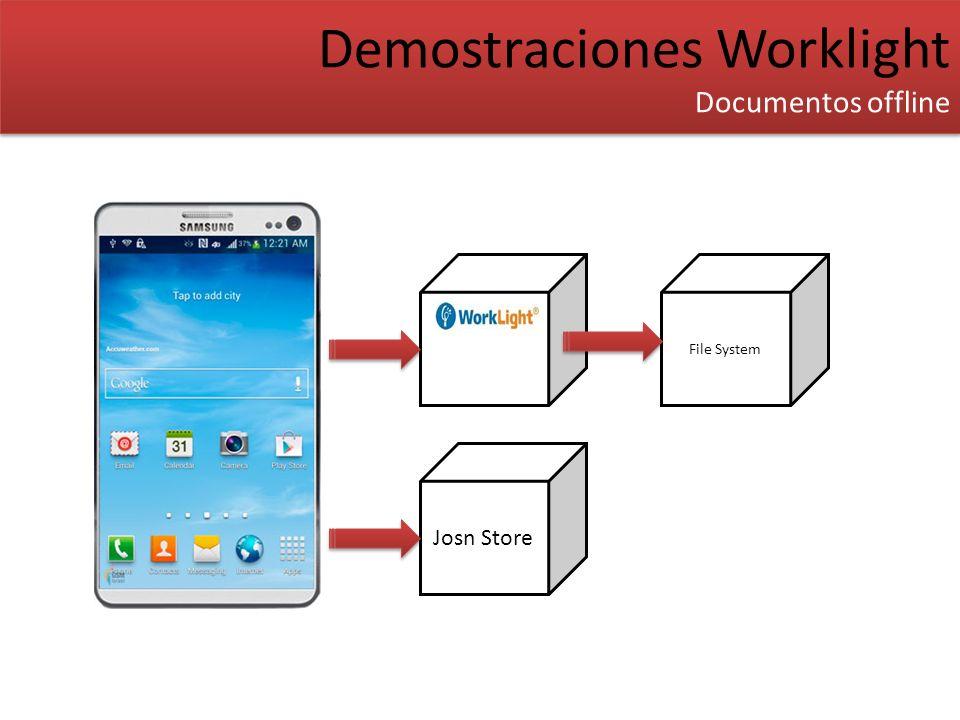Demostraciones Worklight Documentos offline Demostraciones Worklight Documentos offline File System Josn Store