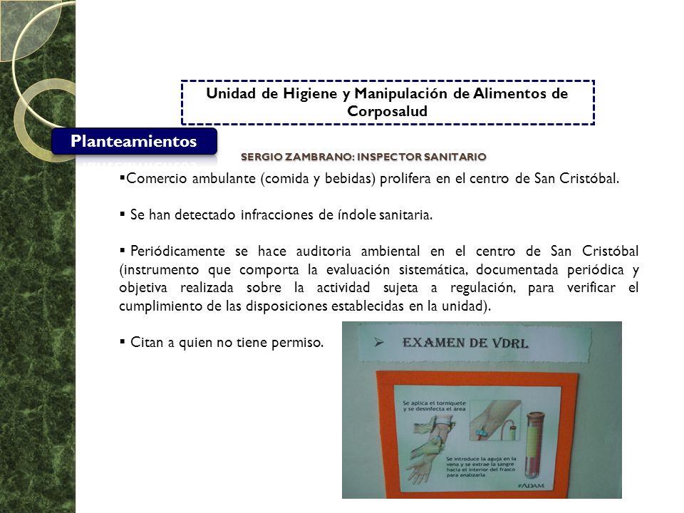 Unidad de Higiene y Manipulación de Alimentos de Corposalud Comercio ambulante (comida y bebidas) prolifera en el centro de San Cristóbal. Se han dete