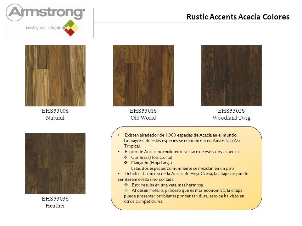 Rustic Accents Acacia Colores EHS5300S Natural EHS5301S Old World EHS5302S Woodland Twig EHS5303S Heather Existen alrededor de 1,000 especies de Acacia en el mundo.