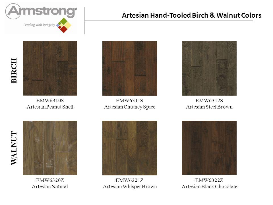 Artesian Hand-Tooled Birch & Walnut Colors EMW6310S Artesian Peanut Shell EMW6311S Artesian Chutney Spice EMW6312S Artesian Steel Brown EMW6320Z Artes