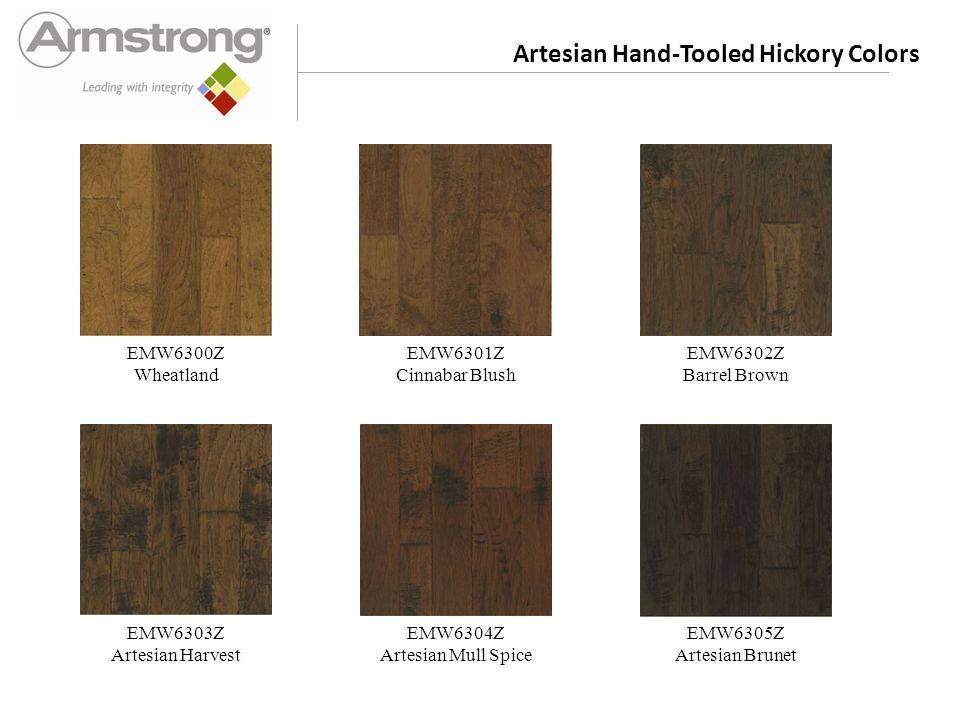 Artesian Hand-Tooled Hickory Colors EMW6300Z Wheatland EMW6301Z Cinnabar Blush EMW6302Z Barrel Brown EMW6303Z Artesian Harvest EMW6304Z Artesian Mull