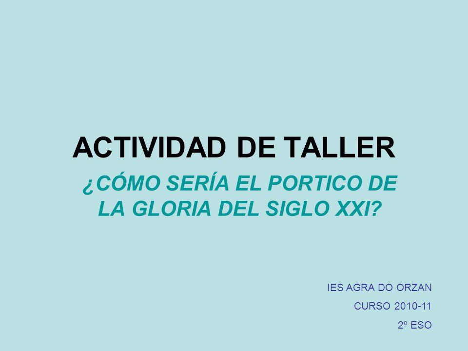 ACTIVIDAD DE TALLER ¿CÓMO SERÍA EL PORTICO DE LA GLORIA DEL SIGLO XXI.