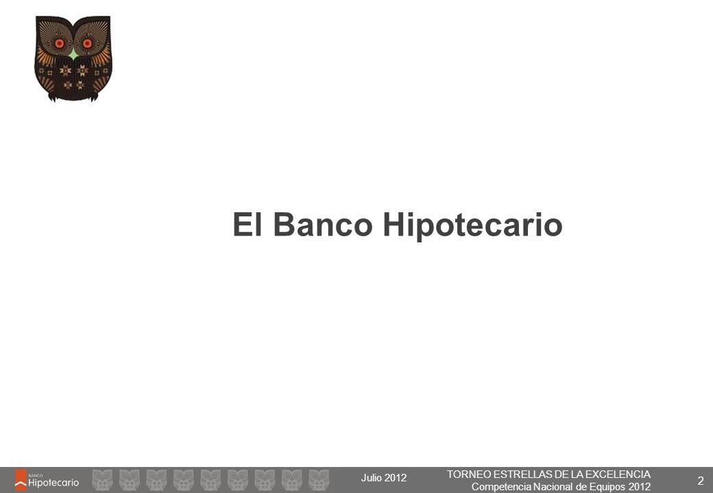 TORNEO ESTRELLAS DE LA EXCELENCIA Competencia Nacional de Equipos 2012 Julio 2012 2 El Banco Hipotecario