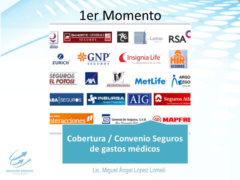 1er Momento Cobertura / Convenio Seguros de gastos médicos