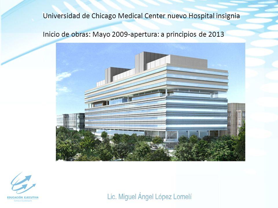 Universidad de Chicago Medical Center nuevo Hospital insignia Inicio de obras: Mayo 2009-apertura: a principios de 2013