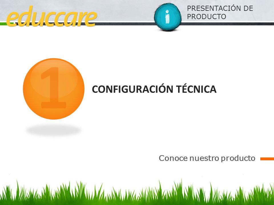PRESENTACIÓN DE PRODUCTO CONFIGURACIÓN TÉCNICA Conoce nuestro producto 1