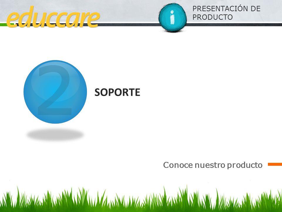 PRESENTACIÓN DE PRODUCTO SOPORTE Conoce nuestro producto 2