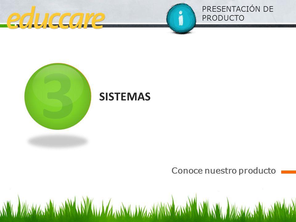 PRESENTACIÓN DE PRODUCTO SISTEMAS Conoce nuestro producto 3