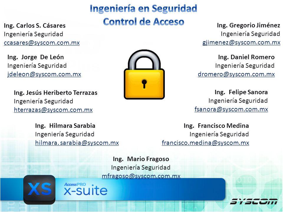 Ing. Jorge De León Ingeniería Seguridad jdeleon@syscom.com.mx Ing.